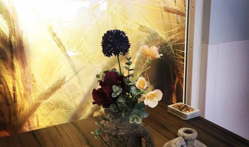 Bloemen bij de buren